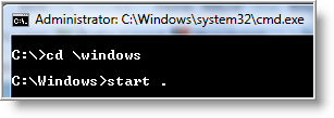 how to delete contents of a folder in command prompt