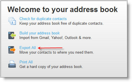 Watching The Net» How To Export Your Address Book From
