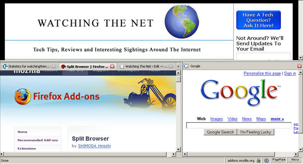 Watching The Net» Tile Multiple Windows In FireFox With