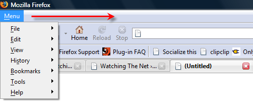 Get More Toolbar Space In Firefox With Tiny Menu