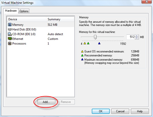 how to add a hard drive to vmware