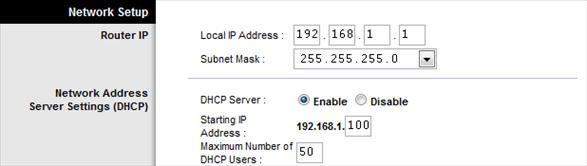 how to set ip address on network printer