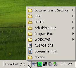 how to make a desktop chortcut of a menu item