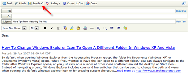 Yahoo Mail Tip Create Templates For Form Letters Using The Draft Folder